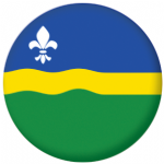Flevoland Region Flag 58mm Mirror